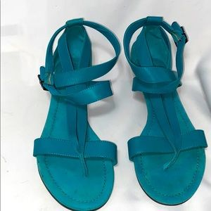 Matisse Turquoise Leather Strap Sandals size 8